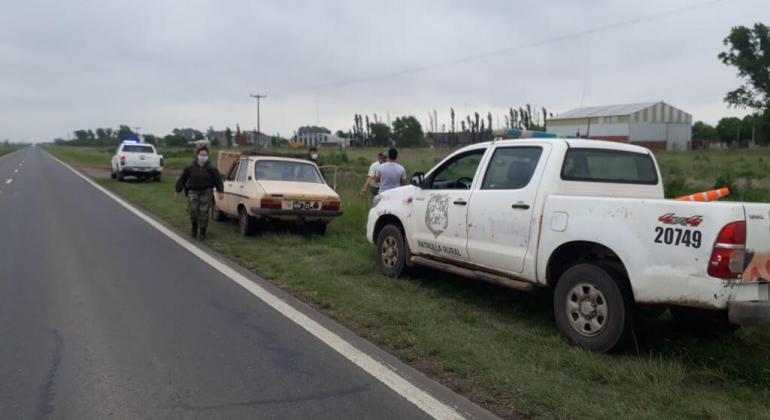 Venía de Timote en un Renault 12 y le secuestraron cocaína y marihuana (video)